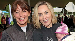 Davina McCall with Kathryn Thomas yesterday at WellFest. Photo: Instagram