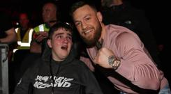 Conor McGregor met Ian O'Connell at the Three Arena last night