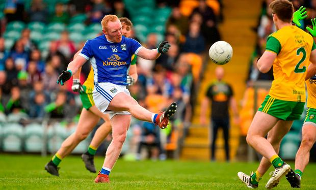 Cavan's Cian Mackey scores a point. Photo: Oliver McVeigh/Sportsfile