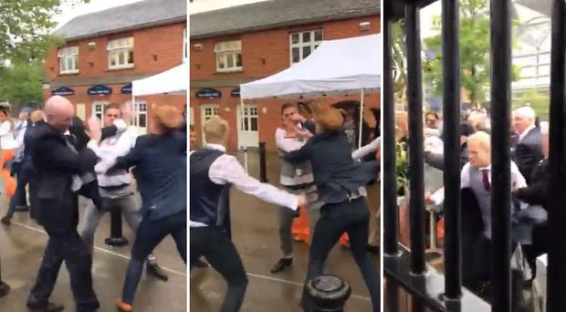 Watch: Shocking footage captures mass brawl at prestigious Ascot racecourse