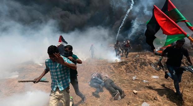 Israeli forces kill 16 in protests as anger mounts over U.S. embassy in Jerusalem