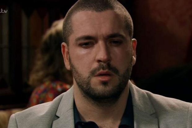 Shayne Ward in one of his final scenes on Coronation Street