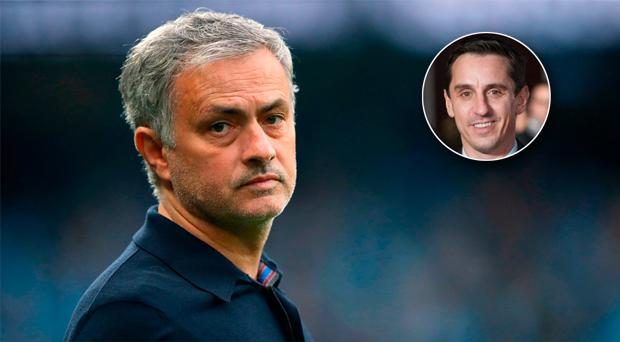 Jose Mourinho may have had Gary Neville in mind as he attacks the club's former players