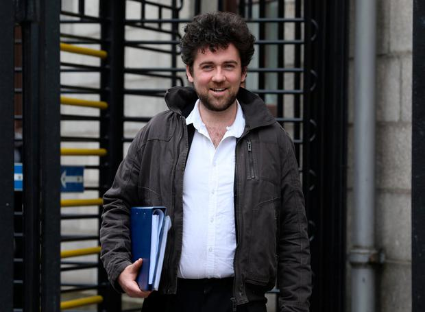 Sean Fitzgerald, pictured leaving the Four Courts after a Circuit Civil Court action. Pic: Collins Courts