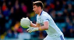 Laois No. 1 Graham Brody has taken the term 'fly-goalkeeping' to new heights with his forays up the field. Photo: Daire Brennan/Sportsfile