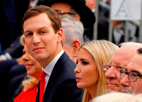 President Trump's senior adviser and son-in-law Jared Kushner and his wife Ivanka Trump at the opening of the US embassy in Jerusalem. Photo: AFP/Getty Images