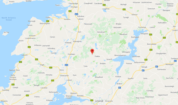 Accident took place in the Magherabawn area of Feakle, Clare. Image: Google Maps.