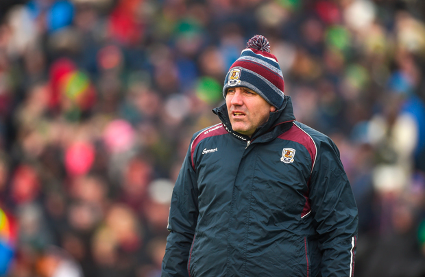 25 February 2018; Galway manager Kevin Walsh prior to the Allianz Football League Division 1 Round 4 match between Kerry and Galway at Austin Stack Park in Kerry. Photo by Diarmuid Greene/Sportsfile