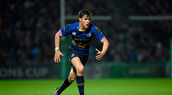 16 January 2016; Garry Ringrose, Leinster. European Rugby Champions Cup, Pool 5, Round 5, Leinster v Bath. RDS Arena, Ballsbridge, Dublin. Picture credit: Stephen McCarthy / SPORTSFILE