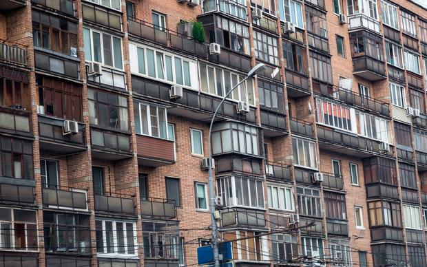 Soviet era housing blocks