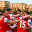 15 May 2018; Dean Clarke of St Patrick's Athletic is congratulated by team mates after scoring his side's first goal during the SSE Airtricity League Premier Division match between St Patrick's Athletic and Sligo Rovers at Richmond Park in Dublin. Photo by David Fitzgerald/Sportsfile