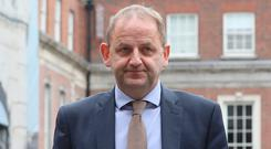Maurice McCabe pictured at the Disclosures Tribunal in Dublin Castle. Photo: Collins