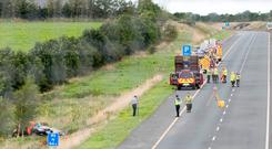 The scene of the fatal accident near Cashel, Co Tipperary, in which Nicola Kenny died. Photo: Dylan Vaughan