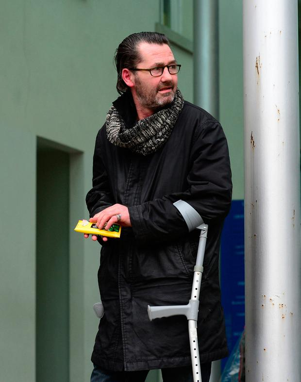 Cathal Doolin (50) (pictured) pleaded guilty to causing criminal damage to the ambulance, school bus and a security barrier as well as dangerous driving and having no insurance. Picture Ciara Wilkinson