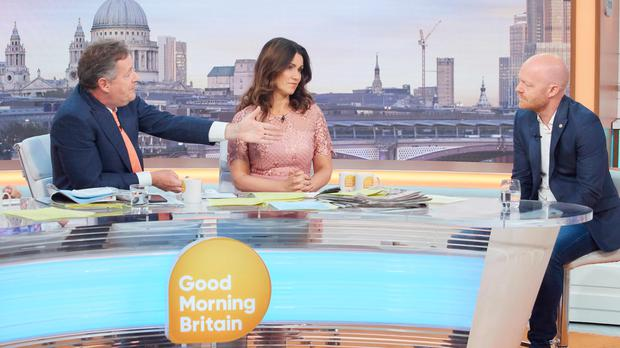 Jake Wood appearing on Good Morning Britain (REX)