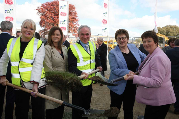 Mary Mitchell O'Connor, Minister of State for Higher Education; Joyce Hegarty contracts manager; Margot Slattery, country president; Deirdre Saunders, account director, Sodexo Ireland and Richard Bruton, TD, Minister for Education and Skills.