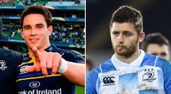 Joey Carbery (left) and Ross Byrne (right).