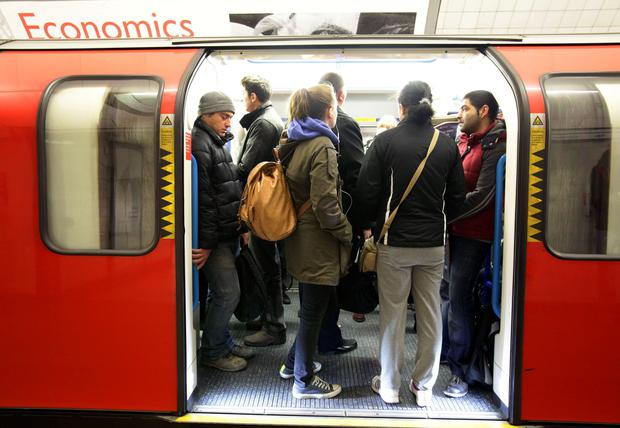 'Pregnant women would have been automatically offered a seat years ago, but now they have resorted to wearing 'Baby On Board' badges on the London tube network with only mixed results.' Stock Image: PA