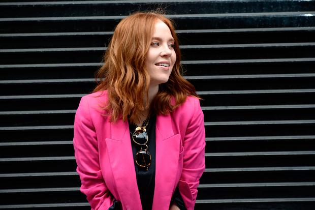 Angela Scanlon was in great form for the photo shoot in Dublin. Pic: Justin Farrelly.