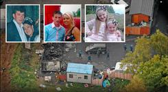 Pictured: Some of the victims of the deadly Carrickmines fire