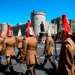 Members of the armed forces head towards Windsor Castle, Berkshire ahead of the wedding of Prince Harry and Meghan Markle this weekend. PRESS ASSOCIATION Photo. Picture date: Thursday May 17, 2018. See PA story ROYAL Wedding. Photo credit should read: Kirsty O'Connor/PA Wire