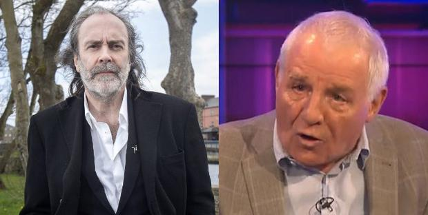 John Waters and (right) Eamon Dunphy