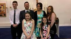 Megan Crowley with her husband Richard and their four children