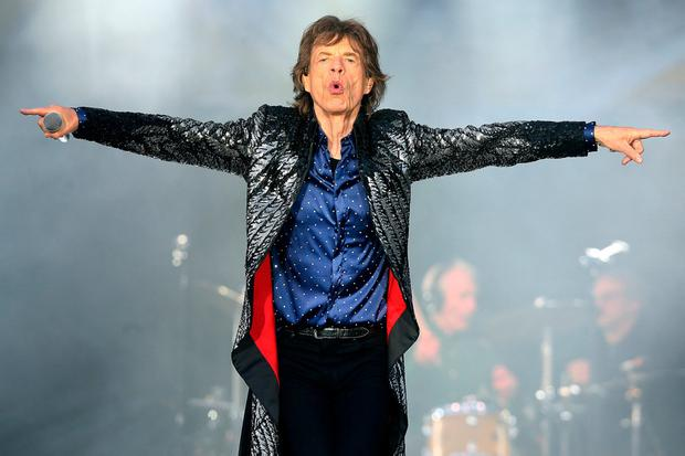 Mick Jagger of the Rolling Stones on stage at Croke Park last night. Photo: Steve Humphreys