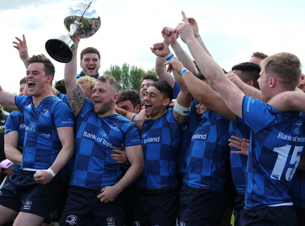 Leinster Juniors celebrate their inter-pro victory