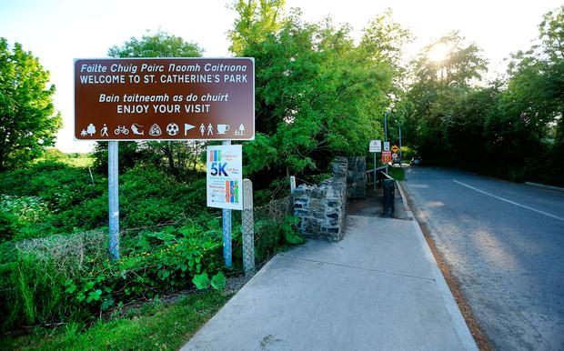 The entrance to St Catherine's Park, near where Ana's body was found. Photo: Gerry Mooney