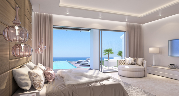 One of the luxurious bedrooms. Photo: Realista