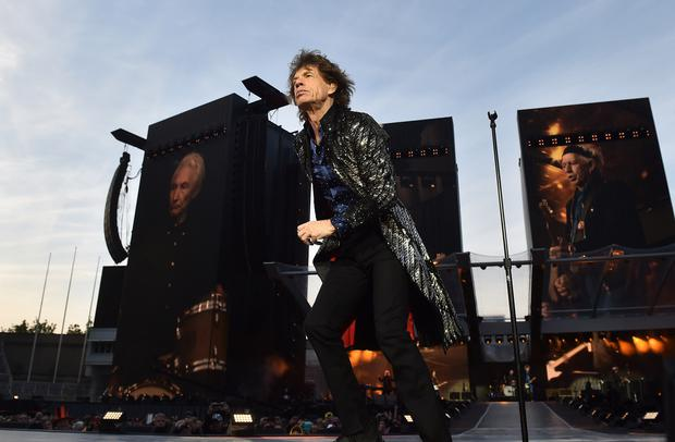 DUBLIN, IRELAND - MAY 17: Mick Jagger of The Rolling Stones perform live on stage on the opening night of the european leg of their No Filter tour at Croke Park on May 17, 2018 in Dublin, Ireland. (Photo by Charles McQuillan/Getty Images)