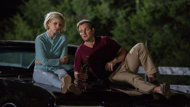 Kate Mara as Mary Jo Kopechne with Jason Clarke as Ted Kennedy in Chappaquiddick