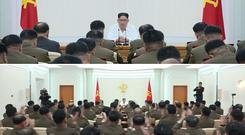Kim Jong Un receives synchronised applause at meeting