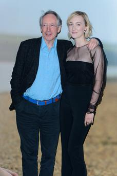 LONDON, ENGLAND - MAY 08: Ian McEwan and Saoirse Ronan attend a special screening of 'On Chesil Beach' at The Curzon Mayfair on May 8, 2018 in London, England. (Photo by Joe Maher/Getty Images)