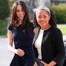 Meghan Markle and her mother, Doria Ragland, arriving at Cliveden House Hotel on the National Trust's Cliveden Estate to spend the night before her wedding to Prince Harry. Steve Parsons/Pool via REUTERS