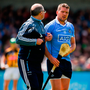 HUGE LOSS: Dublin's Conal Keaney leaves the field injured during the Leinster SHC opener at Parnell Park last Sunday Photo: Sportsfile
