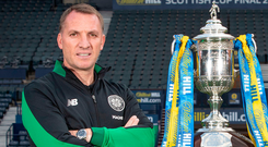 Brendan Rodgers during the preview day ahead of the William Hill Scottish Cup Final at Hampden Park. Photo: PA Wire