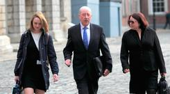 Former commissioner of An Garda Síochána Martin Callinan arrives at the Disclosures Tribunal in Dublin Castle, Dublin. Photo: Gareth Chaney Collins