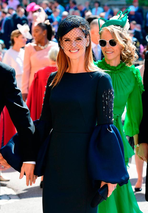 Sarah Rafferty arrives at St George's Chapel at Windsor Castle for the wedding of Meghan Markle and Prince Harry. PRESS ASSOCIATION Photo. Picture date: Saturday May 19, 2018. See PA story ROYAL Wedding. Photo credit should read: Ian West/PA Wire