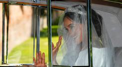 Meghan Markle departs for her wedding to Britain's Prince Harry, in Taplow, Britain, May 19, 2018. REUTERS/Darren Staples TPX IMAGES OF THE DAY