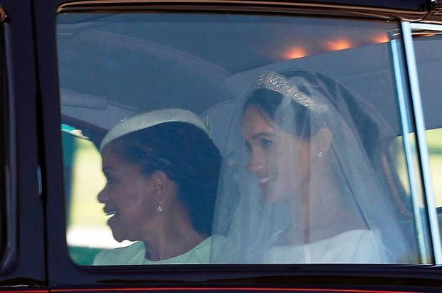 Meghan Markle with her mother Doria Ragland departs for her wedding to Britain's Prince Harry, in Taplow, Britain, May 19, 2018. REUTERS/Darren Staples
