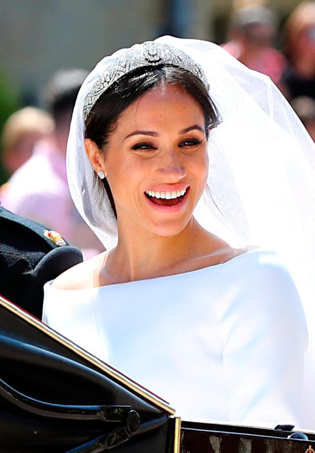 f8f523f5bf7d Meghan Markle leaves St George's Chapel at Windsor Castle after her wedding  to Prince Harry in