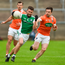 19 May 2018; James McMahon of Fermanagh in action against Aidan Forker of Armagh during the Ulster GAA Football Senior Championship Quarter-Final match between Fermanagh and Armagh at Brewster Park in Enniskillen, Fermanagh. Photo by Oliver McVeigh/Sportsfile