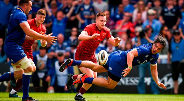 Lowe hits high notes to help Leinster repel Munster rally