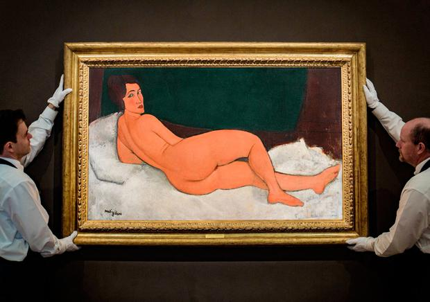 ART OF THE MATTER: Despite the record price paid for the Modigliani painting, the only bidder was prearranged by the auction house