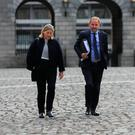WHISTLEBLOWER: Maurice McCabe with his wife Lorraine at the Disclosures Tribunal. Photo: Gareth Chaney