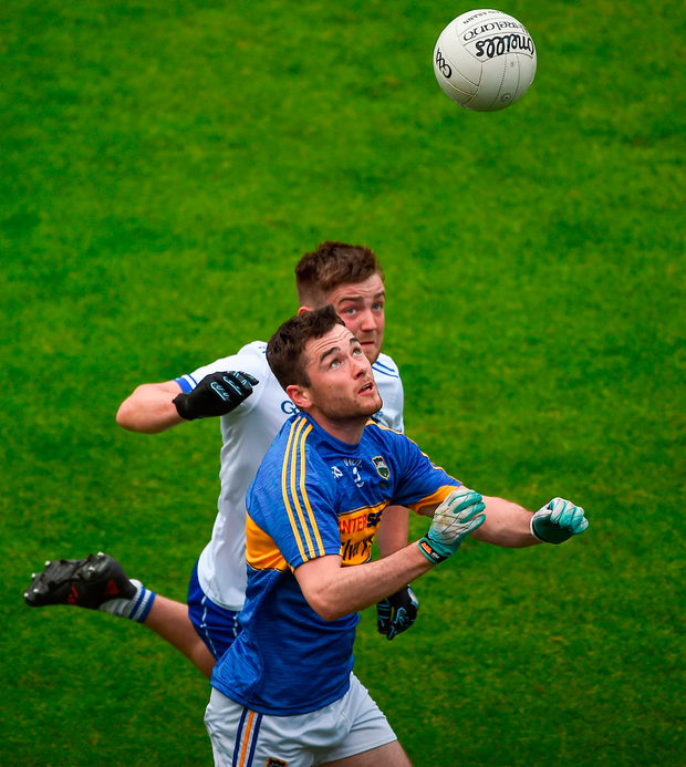 Shane O'Connell of Tipperary in action against Dylan Guiry of Waterford Photo: Daire Brennan/Sportsfile