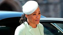 Doria Ragland arrives at St George's Chapel at Windsor Castle for the wedding of Meghan Markle and Prince Harry. Photo: Reuters