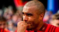 Simon Zebo of Munster of Munster after the Guinness PRO14 semi-final match between Leinster and Munster at the RDS Arena in Dublin. Photo by Brendan Moran/Sportsfile